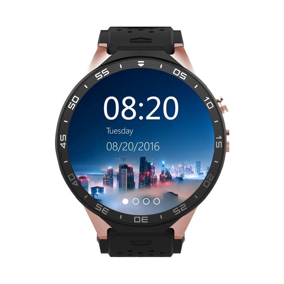 Prix pour Kingwear kw88 smartwatch avec 2g/3g/wifi montre téléphone soutien 2.0mp caméra bluetooth v4.0 gps 4 8gbrom gravité capteur podomètre