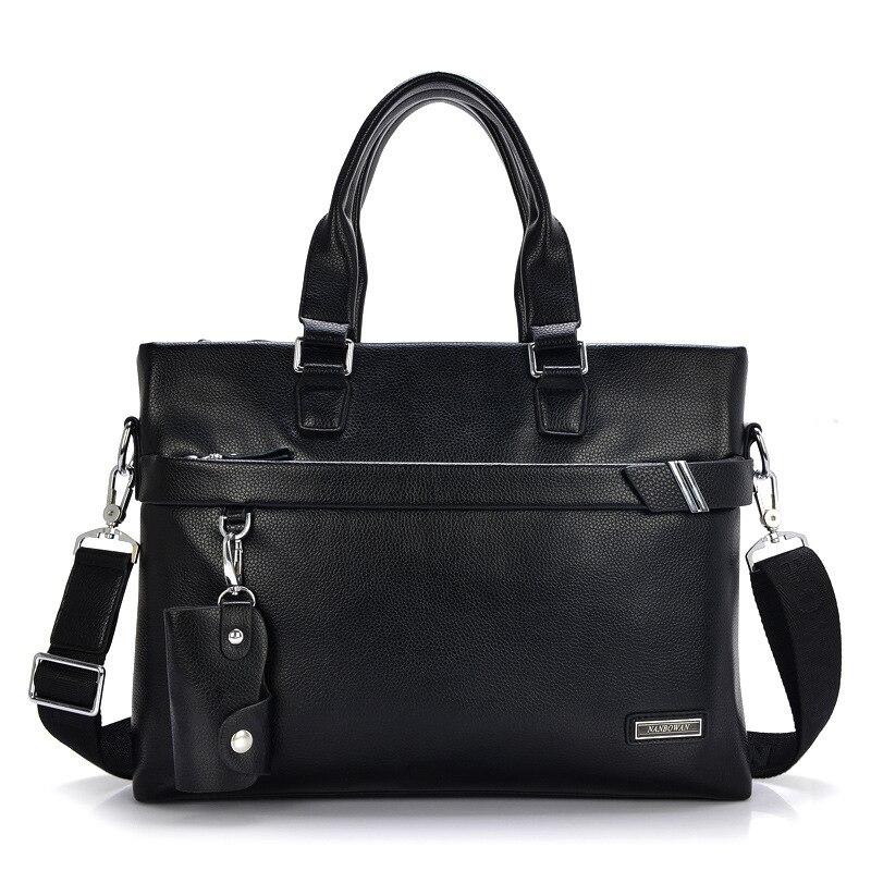 2019 New Men Handbag Business Genuine Leather Briefcase For Laptop Male Crossbody Shoulder Bag Fashion Messenger Bag