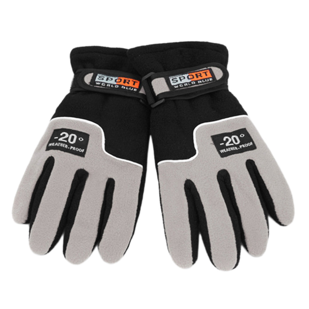 Windproof Sports Riding Full Finger font b Gloves b font Men Winter Warm Fleece Thermal Motorcycle