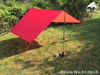 3F UL Gear Ultralight Tarp Lightweight MINI Sun Shelter Awning Camping Mat Tent Footprint 20D Nylon