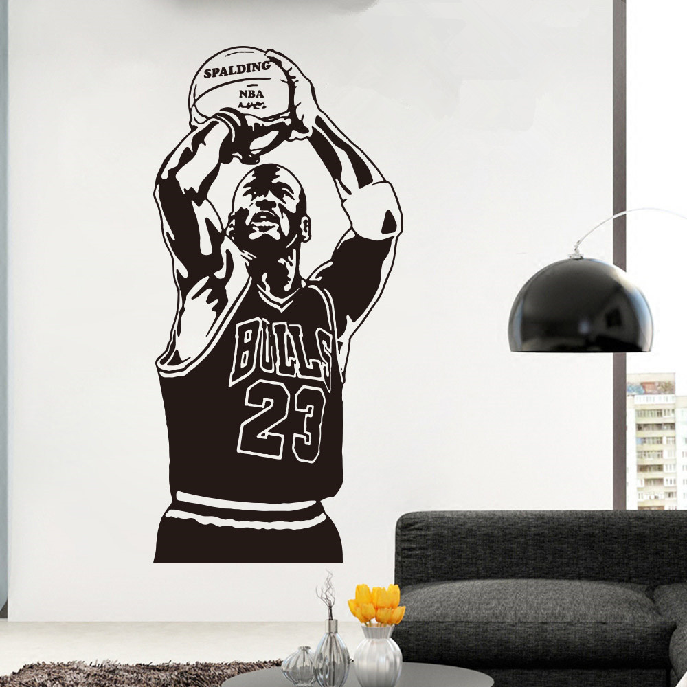 Basketball The Shoot 23 Michael Jordan Wallpaper Home Decoration