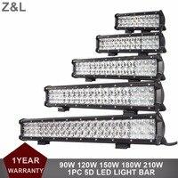5D 90W 120W 150W 180W 210W COMBO 12V 24V LED WORK LIGHT BAR CAR 4X4 4WD