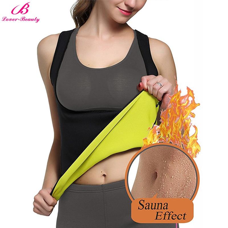 Lover-Beauty Neoprene Sauna Waist Trainer Corset Vest For Weight Loss Bodysuit Hot Body Shaper Slimming Vest For Women