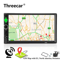 2 din autoradio Car Radio Multimedia Player GPS Navigation Camera Bluetooth MP4 MP5 Stereo Audio Auto Electronic steering wheel