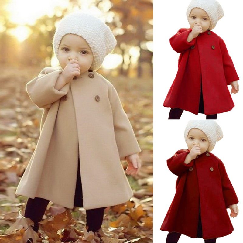 Jackets Girls Coats Cloak Outerwear Windbreaker Hooded Woolen Infant Newborn Autumn Baby