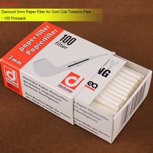 MUXIANG Denicool 100 Pcs/pack  3MM Paper Smoking Pipe Filter for Acrylic Mouthpiece of Tobacco Pipe Filtlers China Sale fd0016