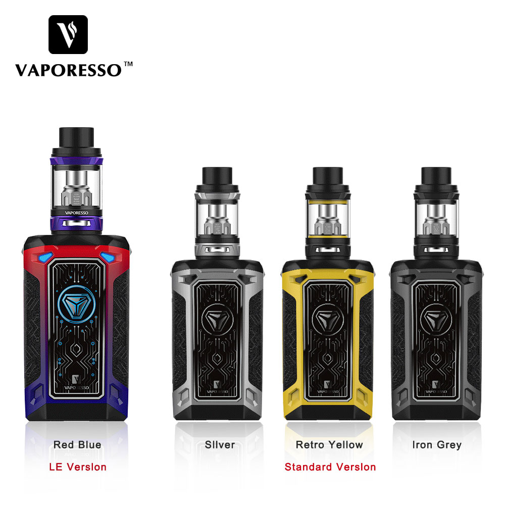 E-cigarette Kit Original Vaporesso Switcher Vape Electronic Cigarette Kit Switcher 220W Box Mod with 5ml NRG Tank GT Coil original ijoy saber 100 kit with 5 5ml diamond subohm tank 100w saber 20700 battery box mod electronic cigarette