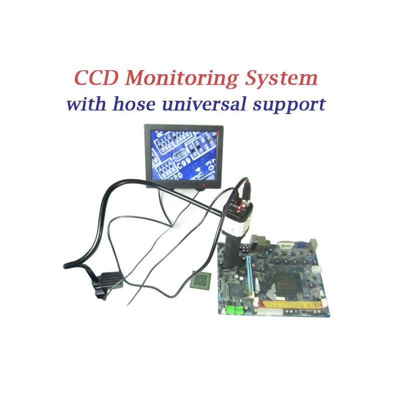LY hose support CCD camera with 8'' TFT monitor for bga rework machine cnc oca ccd camera