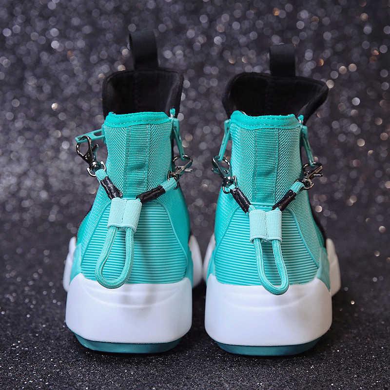 Giày Bốt Nữ Mới 2018 Thu Đầu Mùa Đông Giày Nữ Đế Bằng Giày Bốt Thời Trang Thương Hiệu Người Phụ Nữ Mắt Cá Chân Botas Mềm Đế Ngoài giày Thường