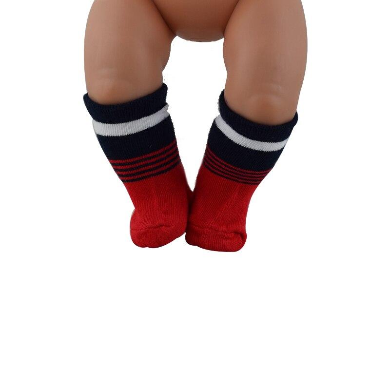 Doll accessories red socks Wear fit 43cm Baby Born zapf,Children best Birthday Gift (2PCS/LOT)