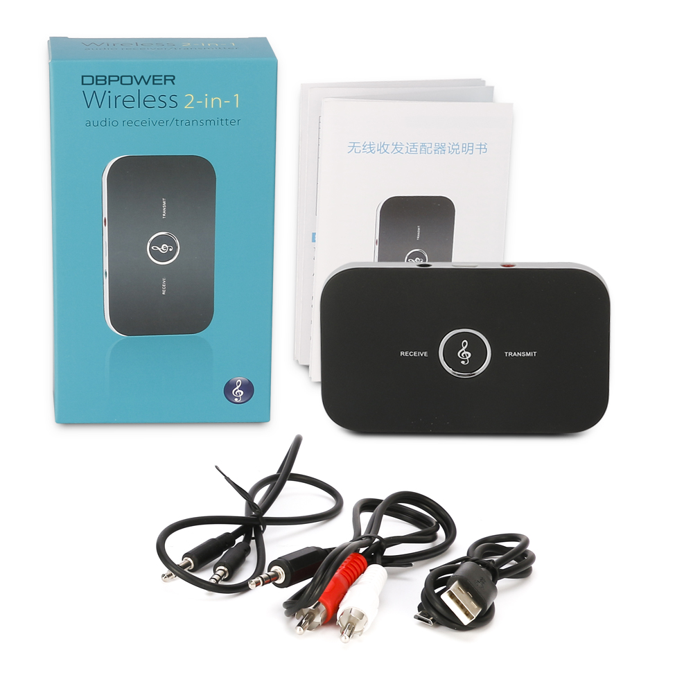 2 In 1 Wireless Bluetooth Transmitter Receiver 4 1 Portable Transmitter Audio Music Adapter For Speaker MP3 3 5MM ports AUX in Wireless Adapter from Consumer Electronics