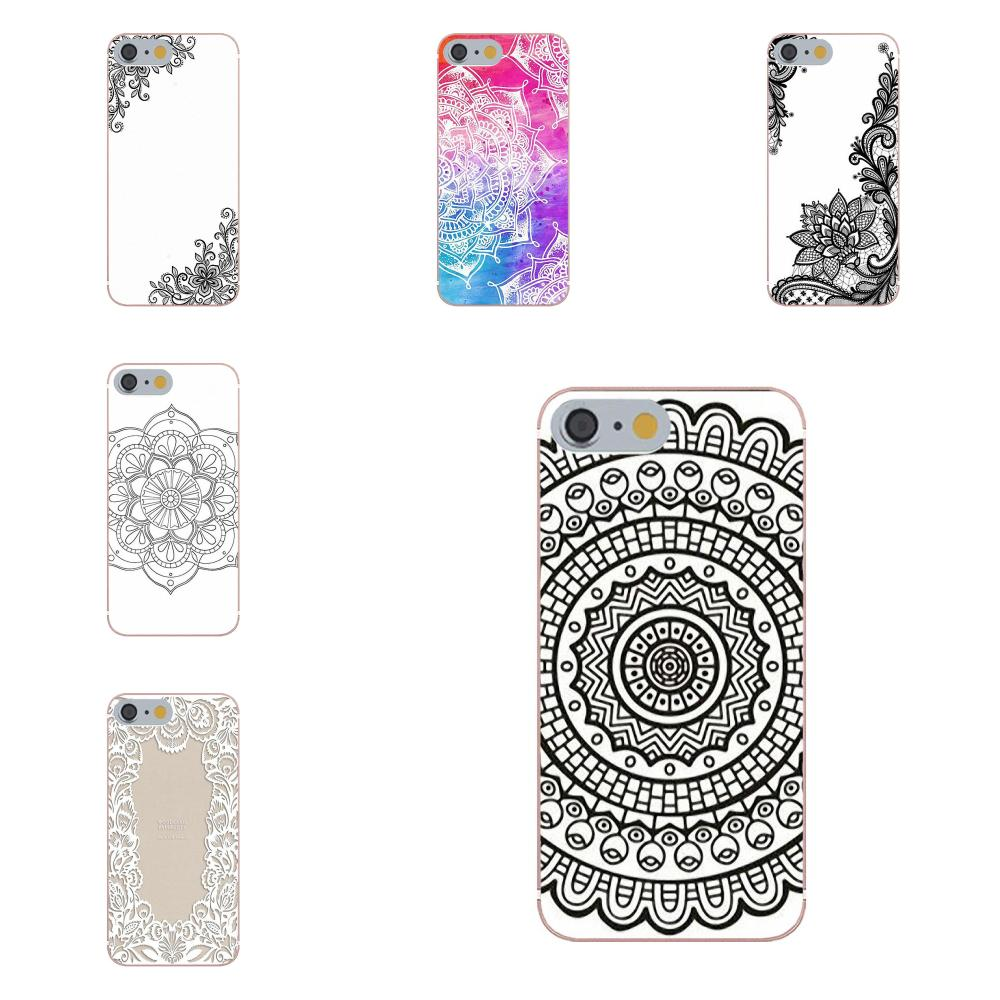 Soft Cell Phone Case Cover Floral Lace Mandala For Xiaomi Mi6 <font><b>Mi</b></font> 6 A1 Max Mix 2 5X 6X Redmi Note 5 5A 4X 4A <font><b>A4</b></font> 4 3 Plus Pro image