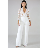Body Suits For Women Casual Elegant Overalls Ladies White Jumpsuits Rompers Womens Jumpsuit Long Pants 2019 Bodysuit Clothing