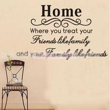 4070 Cm Diy Abnehmbare Wandaufkleber Home Familie Freund Englisch Kunst Dekoration Aufkleber Wohnzimmer Startseite Decals