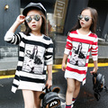 Kids Girls T-shirts Cotton Striped Long Sleeve Girls Clothing Spring Fashion Children Clothing Tops For Girls 4 6 8 10 12 Years