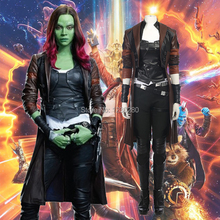 Guardians of the Galaxy 2 Gamora Cosplay Costume Halloween Heroine Outfit For Adult Costom Made