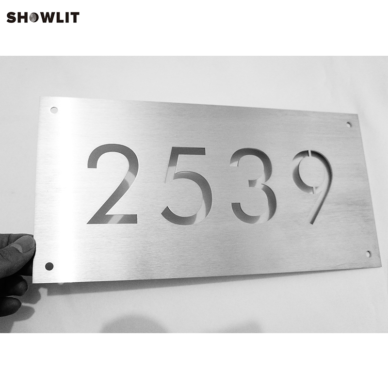 Hot Sale High Quality Cutom Made House Sign Door Numbers black metal house numbers horizontal door numbers house sign