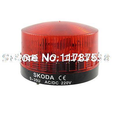 цены AC 220V Red LED Industrial Tower Stack Indicator Beacon Flash Light