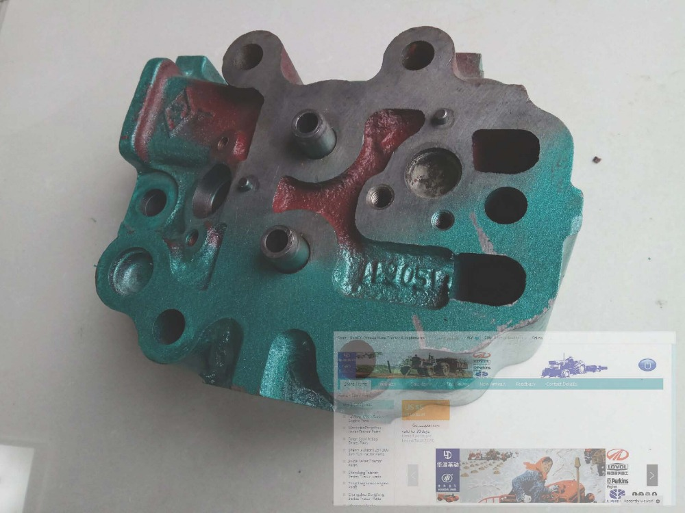 Laidong KM138TD, the cylinder head with gasket, part number: laidong km4l23bt for tractor like luzhong series set of piston groups with gaskets kit including the cylinder head gasket