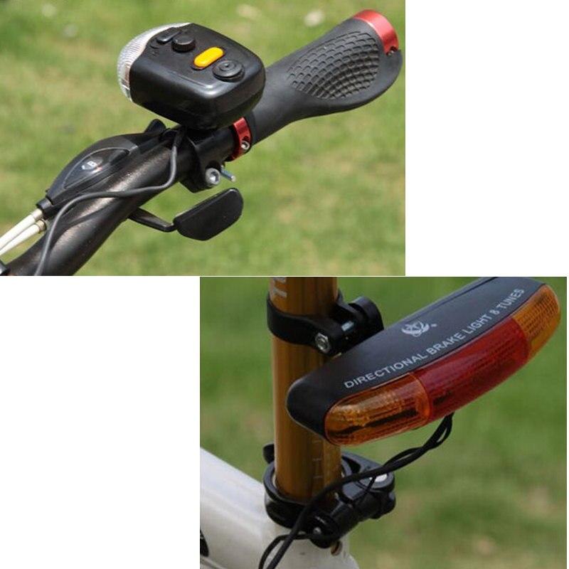 1Set Multifunction Bike Bicycle Turning Light Brake Light Bicycle Rear light Bike Safty Lamp 8 sound <font><b>Horn</b></font> Bell Bike Accessories