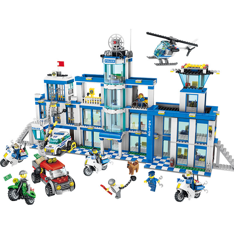 1397pcs Large Building Blocks Sets City Police Station Anti-Terrorism Action Compatible LegoINGLYS City Police Toys for Children lepin 02012 city deepwater exploration vessel 60095 building blocks policeman toys children compatible with lego gift kid sets