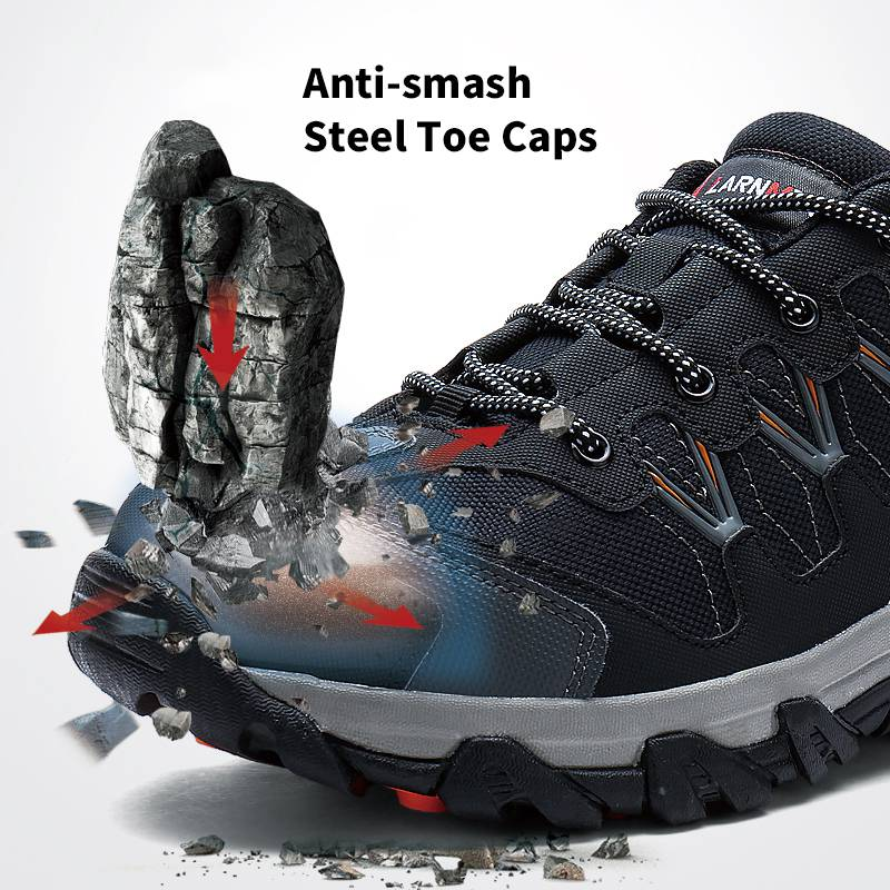 MODYF Erkekler Çelik Burunlu Iş Güvenliği Ayakkabı Rahat - Erkek Ayakkabıları - Fotoğraf 4
