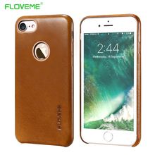 Original Geniune Leather Case For iPhone 7 6 6s Coque Retro Phone Cases For iPhone 7 Plus 6 6s Plus Luxury Cover With Logo Hole