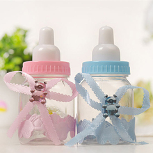 12pcs Feeding Milk Bottle Style Gift Box Pink Blue Candy Baby Shower Boy Girl Birthday Party Favors