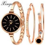 Xinge Brand Luxury Famous Women Bracelet Watch Jewelry Watch Set Wristwatch Women Crystal Gemstone Stone Quartz