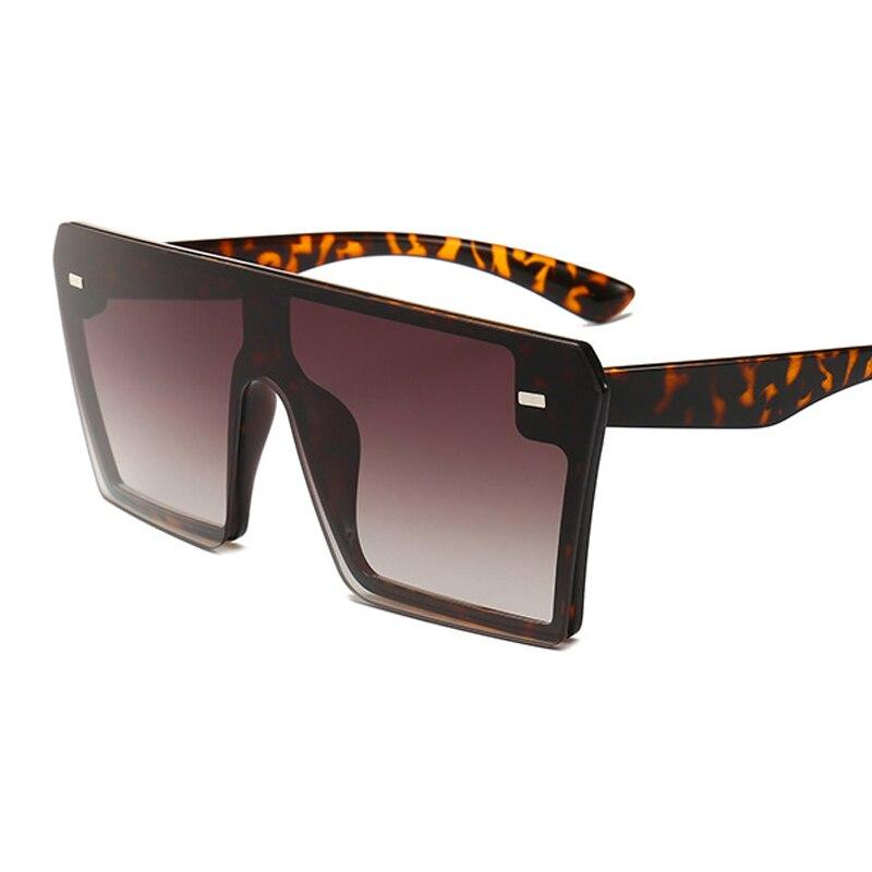 Oversized Square Sunglasses Women 2021 Luxury Brand Fashion Flat Top Red Black Clear Lens One Piece Men Gafas Shade Mirror UV400 7