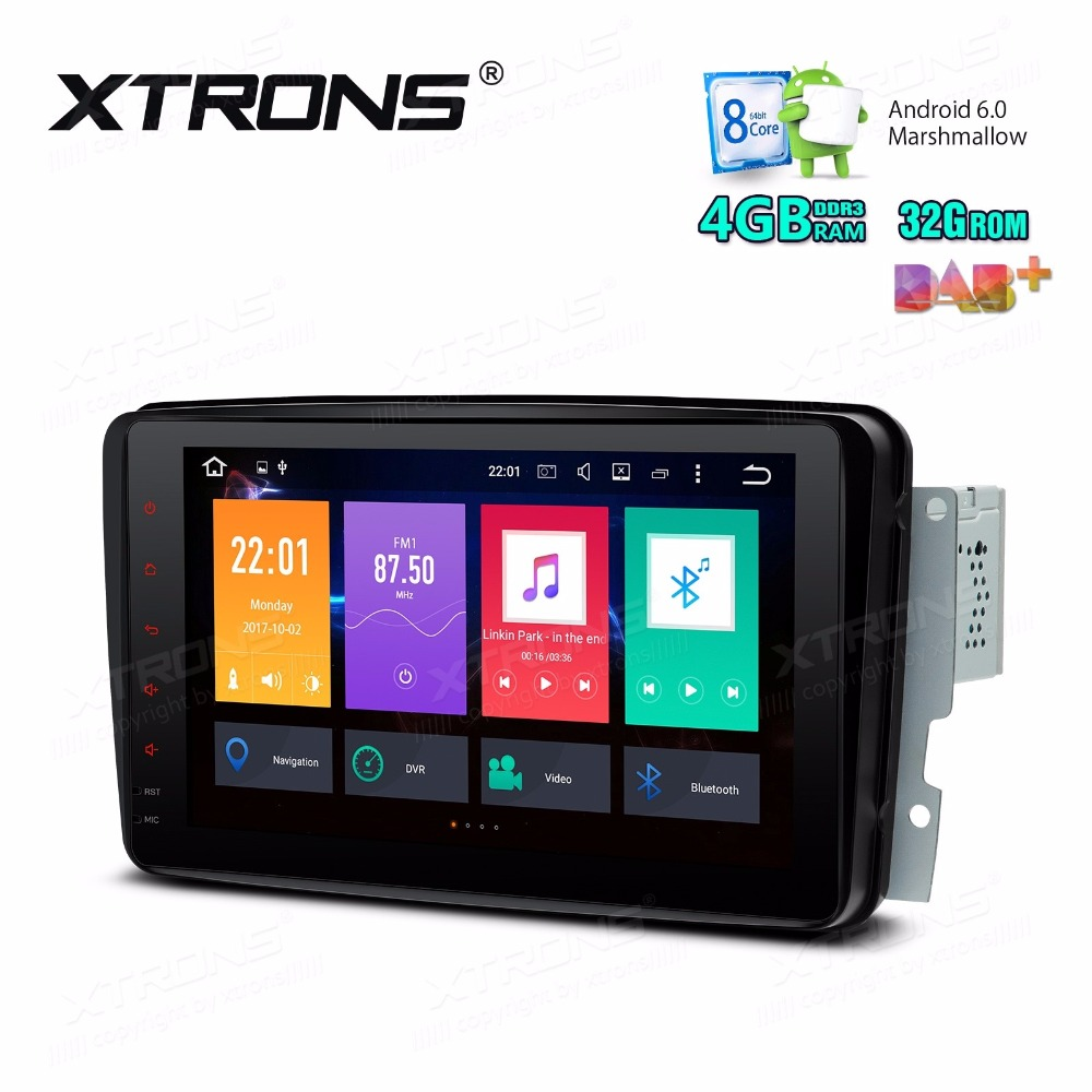 8&#8243;Octa-Core 4GRAB/32G Android 6.0 <font><b>Car</b></font> Multimedia GPS Radio for Mercedes-Benz A-Class W168 1998-2002 &#038; Viano/Vito W639 2003-2006