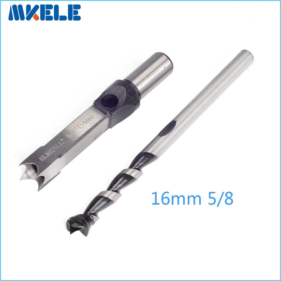 цена на drill bit 16mm 5/8'' Woodworking Square Hole Bits Drill Mortising Chisel Set wood tools Mortiser Drill Bit Set