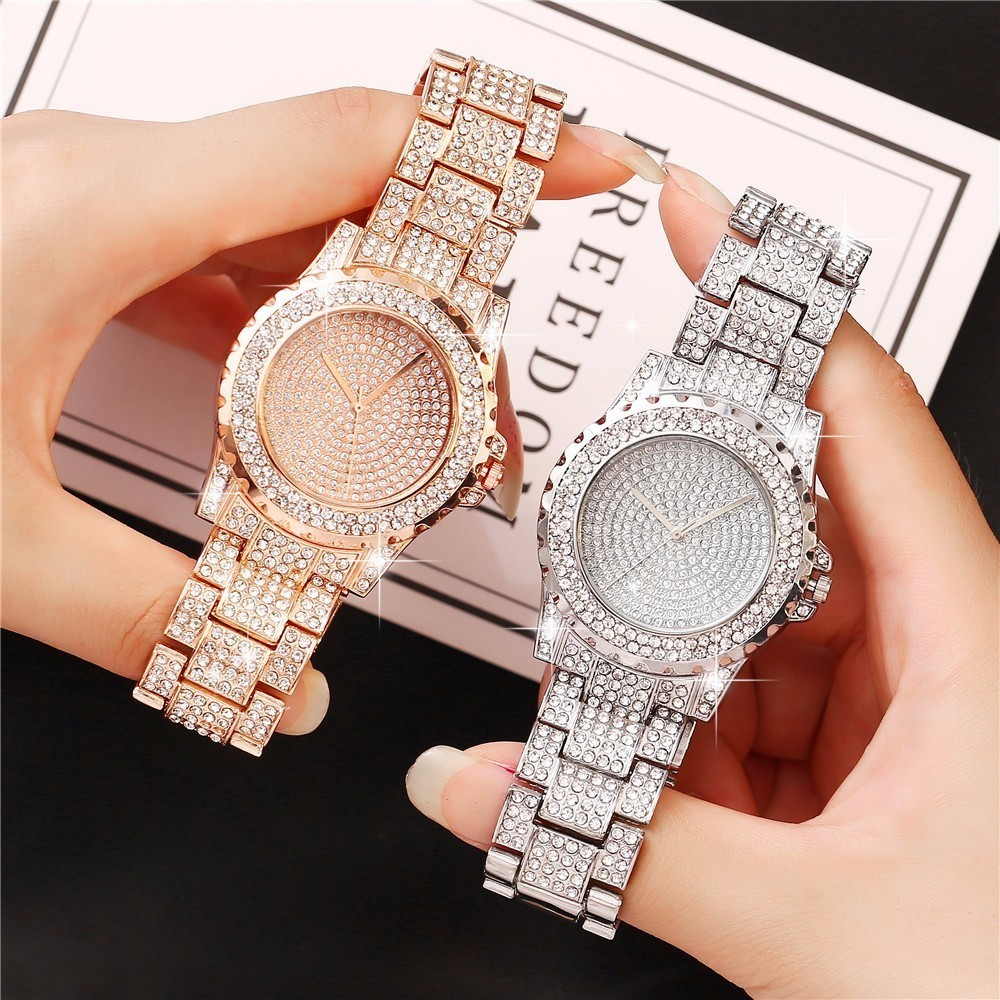 Women Stainless Steel Full Diamond Wrist Watches Casual Luxury Ladies Quartz Watch Clock Relogio Feminino Dropshipping