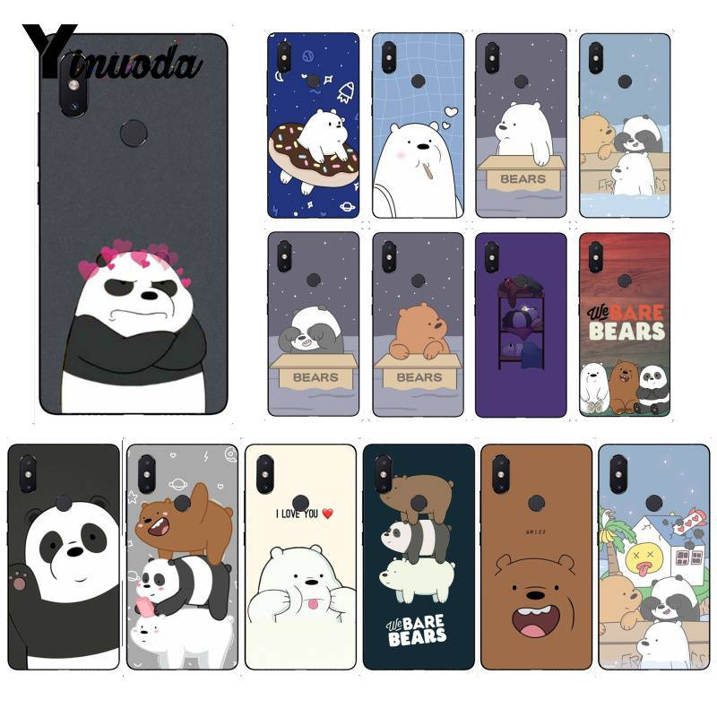 Yinuoda Lovely Cartoon We Bare Bears TPU Soft Phone Case for Xiaomi Mi 6 Mix2 Mix2S Note3 8 8SE Redmi 5 5Plus Note4 4X Note5