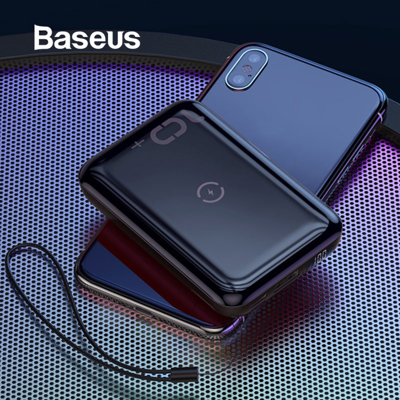 Baseus 10W Wireless Power Bank 10000mah Quick Charge 3.0+PD3.0 Powerbank Wireless Charging External Battery Charger For Xiaomi(China)