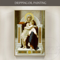 New Classical Oil Painting Hand painted The Virgin Jesus and Saint John Baptist Oil Painting Religious Portrait Oil Painting