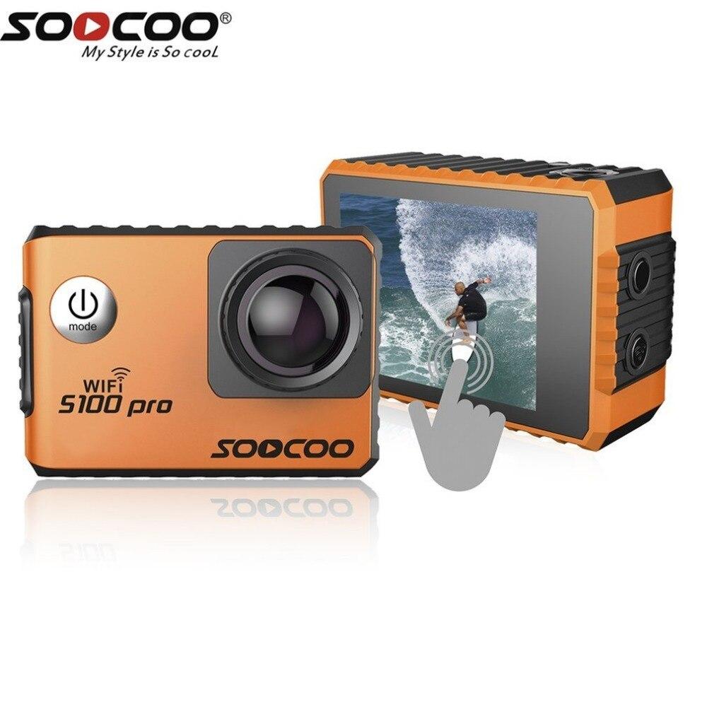Soocoo на голос Управление s100pro Водонепроницаемый действие Камера Wi Fi 4 К HD 2.0 Сенсорный экран спортивные Камера С микрофоном GPS расширение