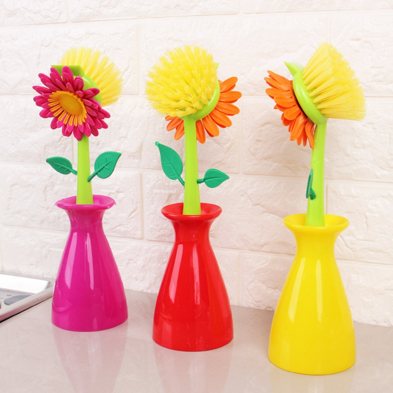 Creative Kitchen Gadgets Multifunctional Cleaning Brush New Sun Flower Pot Brush Household Cleaning Tools Accessories