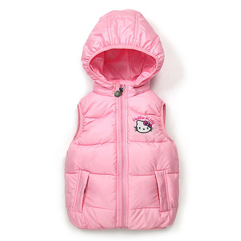Selling Cotton Jacket Warm Hello KItty Baby Baby Autumn Winter Fashion Hooded Coat And Vest Overalls