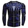 Aranha 3D Impresso T Shirt Homens Quick Dry Camisa De Compressão Homens Marca Superman Manga Comprida Casual T-shirt Dos Homens de Fitness