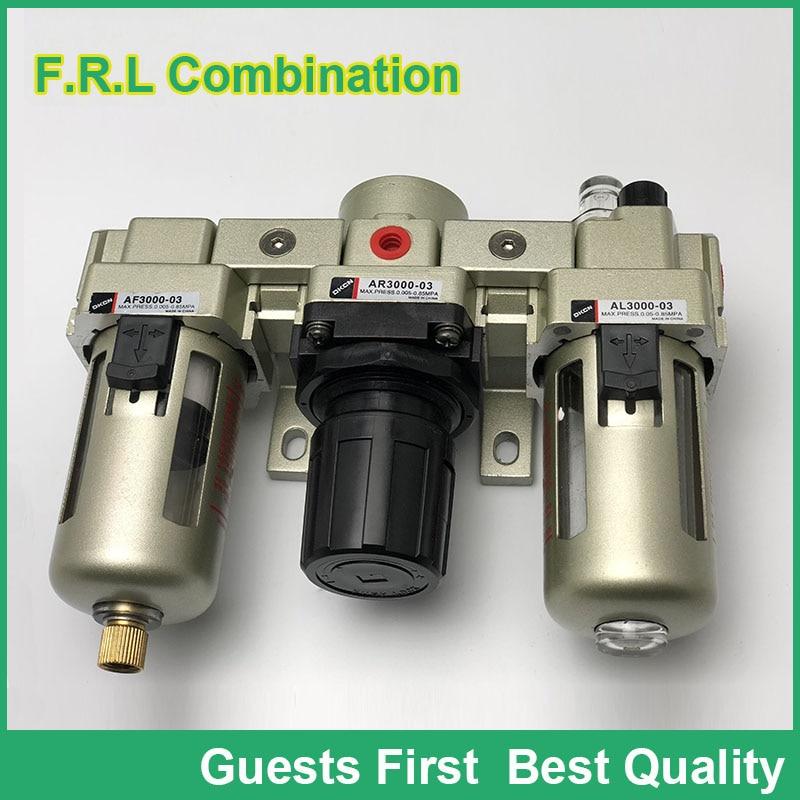 AC5000-06 AC5000-06D AC5000-10 AC5000-10D Air Filter Combination F.R.L Three Union Air Source Treatment AF5000 + AR5000 + AL5000