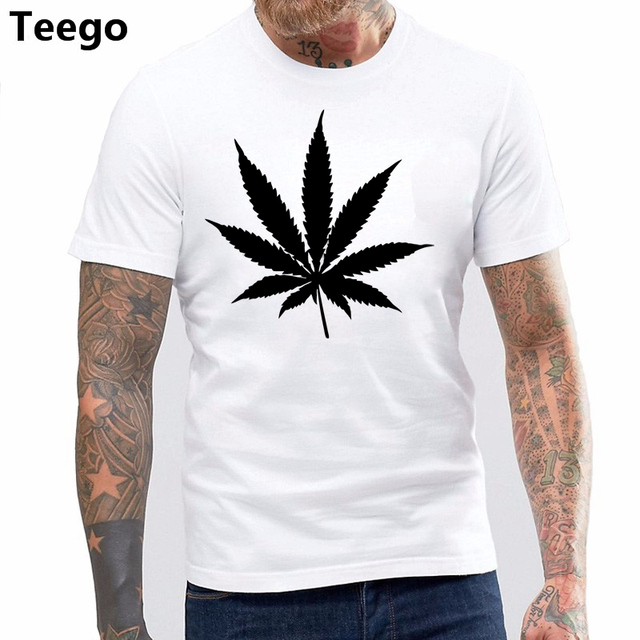 caf29ff1d3b4 LEAF Logo MENS T SHIRT WEED HIGH SWAG HYPE HIPSTER GRAPHIC TEE TOP ...