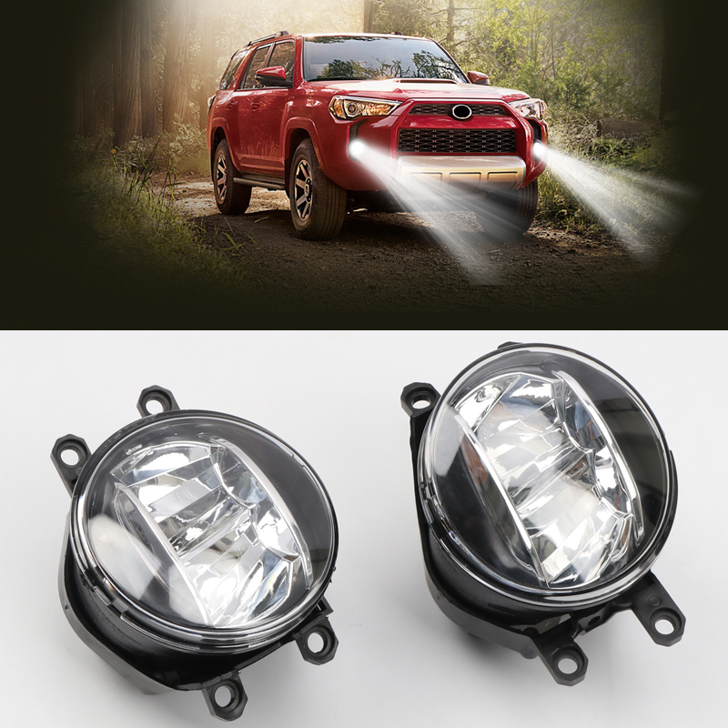 For Toyota 4Runner 2014 2019 Car Accessories Front Fog Lights Refit LED Auto Parts Replacements Kit Set