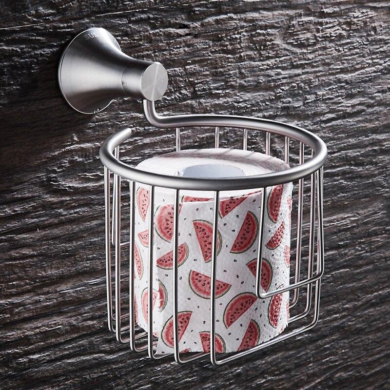 Toilet Paper Holder Wall Mounted Bathroom Roll Paper Holder Decorative Stainless Steel Paper Towel Holder Rack Tissue Paper Rack
