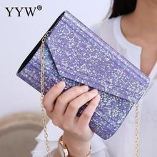 2019 Pvc Box Clutch Bag Ladies Sequin Clutches Purple Rectangle Bag Woman Flap Shoulder Bags Messenger Durable Party Evening Bag sequin everning clutch bag for party acrylics flap bag with metal china women clutch bling eye crossbody bag sequin bag