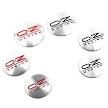 4 sztuk 50mm 56mm 65mm OZ logo wyścigowe koła ze stopu centrum Decal Rim emblemat dekoracyjny aluminium samochód naklejki
