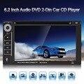 Tela LCD de 6.2 Polegada 6201A Bluetooth Veículo Sintonia de Rádio De Áudio Estéreo 2 Dins CD Player Do Carro Jogador 12 V DVD Apoio SB/SD