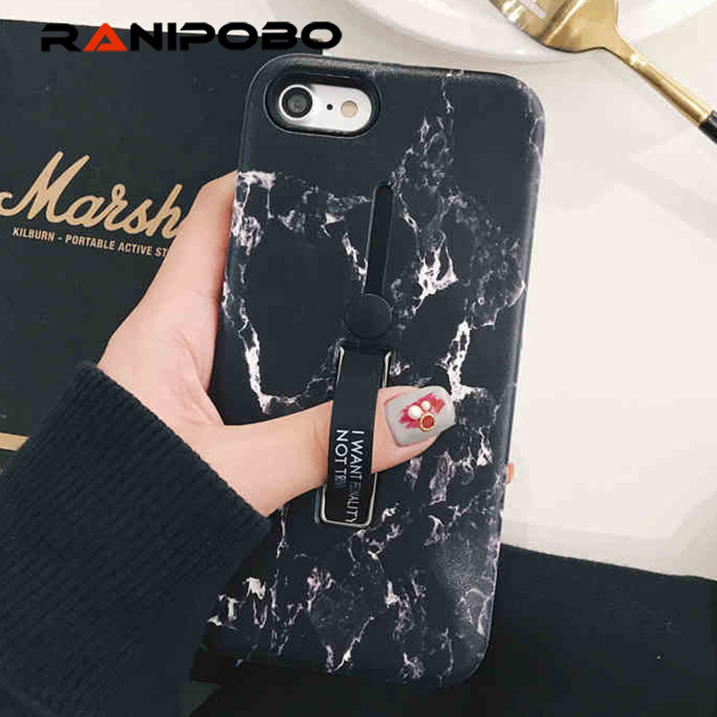 new concept 10578 ef74e US $1.91 36% OFF|For iphone XS Max X XR 6 7 8 Fashion Marble Soft silicon  Rig Phone Case For iphone XS Case Hide Stand Holder Cover For iphone XR-in  ...