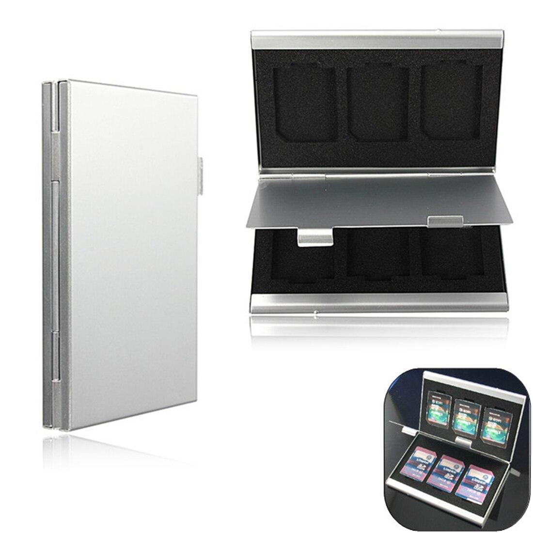 Image 2 - NOYOKERE Высокое качество 6 слотов двойной стол алюминиевый ящик для хранения для SD SDHC SDXC MMC чехол для держателя карты памяти протектор-in Чехлы для карт памяти from Компьютер и офис on AliExpress - 11.11_Double 11_Singles' Day