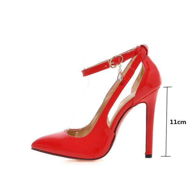 placeholder Plus Size 43 Sexy High Heels Shoes Women Pumps Sweet Luxury  Black Red Pink Wedding Shoes d3a5b0c46ee7